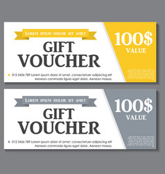 Gift voucher template with sample text vector