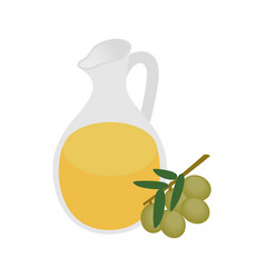 Bottle of olive oil icon in isometric 3d style vector