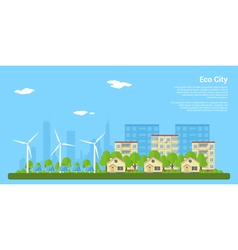 eco city 2 vector image
