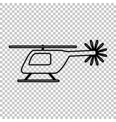 Helicopter sign line icon vector