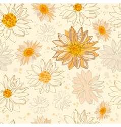 Pattern flowers vector