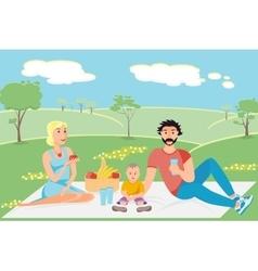 A happy family vector