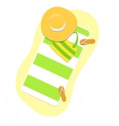 beach things vector image