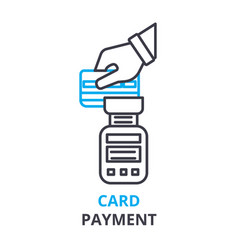 card payment concept outline icon linear sign vector image