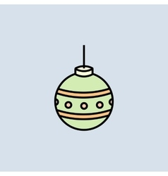 Christmas bauble icon vector image vector image