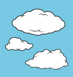 clouds puffy collection vector image