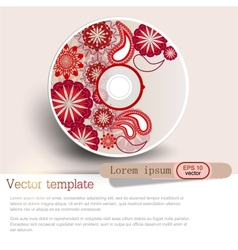 Cover design template of disk Pattern vector image vector image