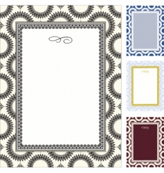 decorative pattern and frame vector image vector image