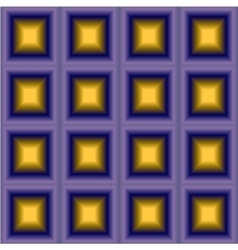 Geometric background with purple yellow squares vector image vector image