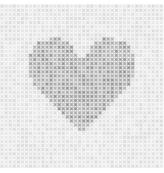 Gray abstract grid heart vector