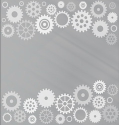 Grey gear background vector image