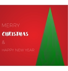happy new year green xmas pine tree in low poly vector image