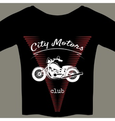 Motorcycle design template for t-shirt vector image