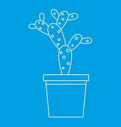 Opuntia microdasys icon outline style vector