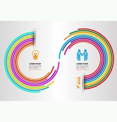 Rainbow circle arrow vector