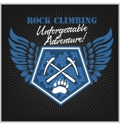 Rock climbing and mountain climbing vector image vector image