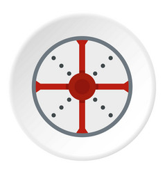 Round shield icon circle vector