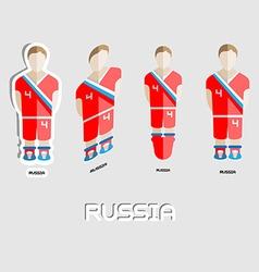 Russia soccer team sportswear template vector