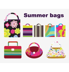 summer bags vector image