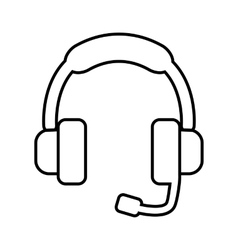 Support line icon vector