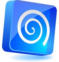 Swirl icon vector