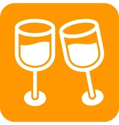 Champagne in glass vector