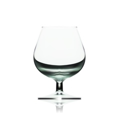 Transparent empty wine glass isolated on white vector