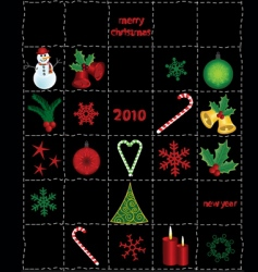 Christmas elements and icons vector image