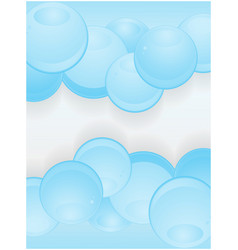 Glossy blue spheres portrait background vector image