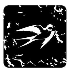 Swallow icon grunge style vector