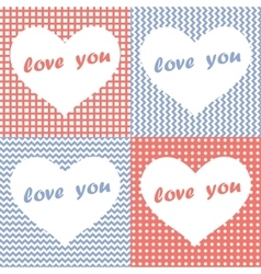 Set of four Valentines Day Hearts vector image