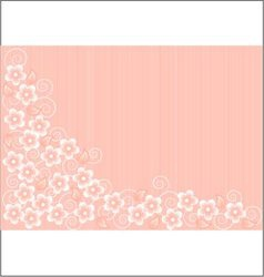 Abstract Pink Background with Flowers vector image