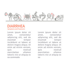 Diarrhea symptoms and treatment leaflet vector