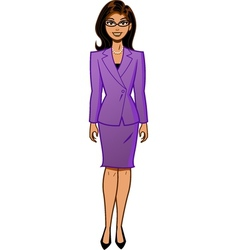Attractive businesswoman vector