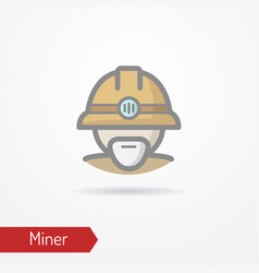 old miner face icon vector image