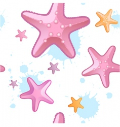 Starfish pattern vector