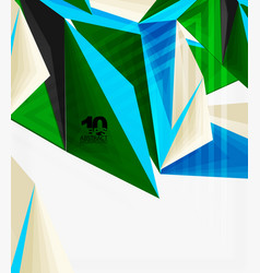 3d modern triangle low poly abstract geometric vector image