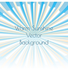 Warm sunshine rays vector