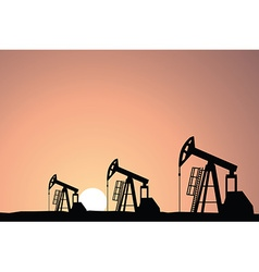 Oil rig vector image