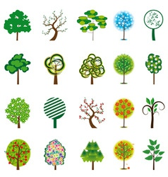Tion of trees for design vector illustration vector