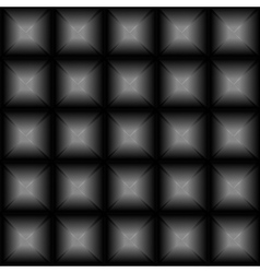 Geometric black background with glowing squares vector