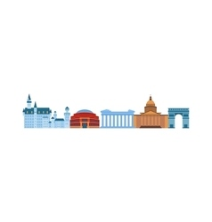 Famous Europe places vector image
