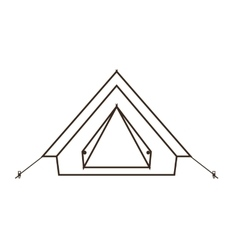 Camp tent icon vector