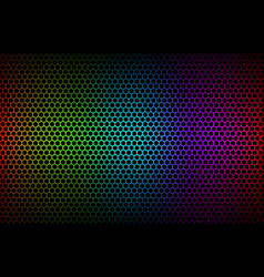 abstract colorful geometric hexagons background vector image vector image