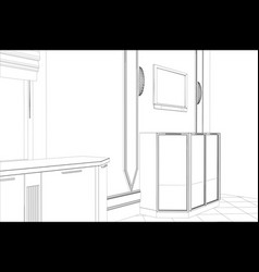 Abstract sketch interior vector