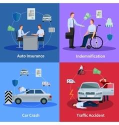 Auto insurance concept vector