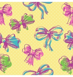 Bow seamless pattern vector image vector image