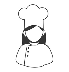 Chef profile isolated flat icon vector image