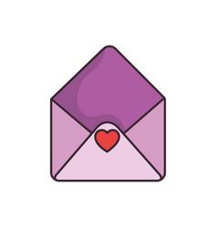 cute love envelope vector image