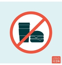Do not eat icon vector image vector image